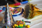 Colorful party supplies — Stock Photo
