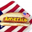 Stock Photo: AmericHot Dog