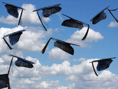 Airborne Graduation Hats — Stock Photo