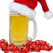 Christmas Beer — Stock Photo