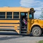 Yellow school bus — Stock Photo