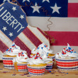 Stock Photo: Holiday Patriotic Cupcakes