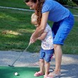 Stock Photo: First Golf Lesson
