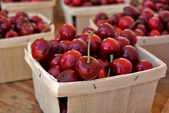 Cherries in Boxes — Stock Photo