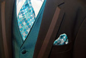 Brown Wedding Tuxedo — Stock Photo