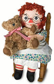Rag doll with teddy — Stock Photo