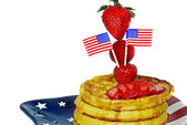 Patriotic waffles — Stock Photo