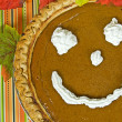 Stock Photo: Fun fall pumpkin pie