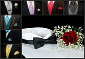 Wedding Tuxedo Collage — Stock Photo