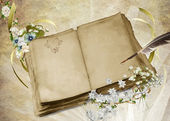 Vintage Wedding Book — Stock Photo