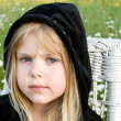 Child with black hoodie — Stock Photo