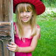 girl with hat and sundress — Stock Photo
