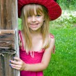 Stock Photo: girl with hat and sundress