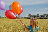 風船の女の子 — ストック写真