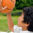 Shooting Baskets - Stock Photo