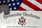 Honorable Discharge — Stock Photo