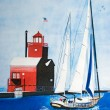 Stock Photo: Sailing in harbor