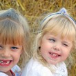 Little girls on the farm — Stock Photo
