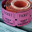 Roll of pink raffle tickets — Stock Photo #11231160