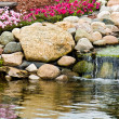 Stock Photo: Rock Garden Waterfall