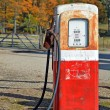 Rusty vintage gasoline pump — Stock Photo