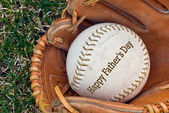 Father's Day baseball — Stock Photo