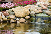 Rock Garden Waterfall — Stock Photo