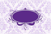 Purple Damask with frame — Stock Photo