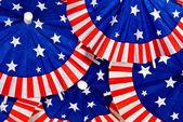 Sombrillas de papel patriótico — Foto de Stock