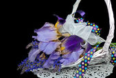 Purple Iris Bouquet — Stock Photo