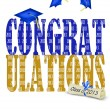 Stock Photo: Congratulations for class of 2013