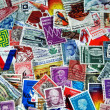 Stock Photo: Vintage postage stamp collection