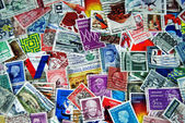 Vintage postage stamp collection — Stock Photo