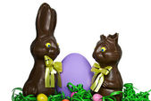 Chocolate Easter Bunnies — Stock Photo