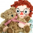 Rag doll with teddy — Stockfoto #11345411