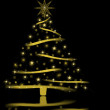 Gold Holiday Tree - Stockfoto