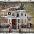 Victorian Christmas House — Stock Photo