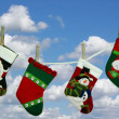 Christmas Laundry - Stockfoto