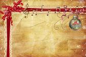 Christmas music border — Stock Photo