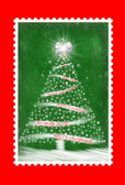Christmas tree stamp — Stock Photo