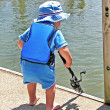 Little boy blue fishing — Stock Photo #11377423