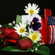 Stock Photo: Holiday bouquet in mailbox