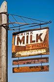 Drink Milk Sign — Stock Photo