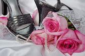 Gümüş sandalet — Stok fotoğraf