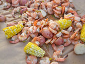 Shrimp Boil — Stock Photo