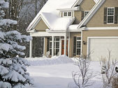 New house in the suburbs — Stock Photo