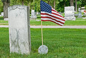 Veterans grave site — Stock Photo