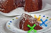 Chocolate Cake with jacks — Stock Photo