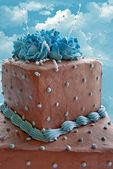 Warstwowe ciasto czekoladowe — Zdjęcie stockowe