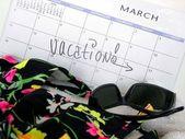 Spring break plans — Stock Photo